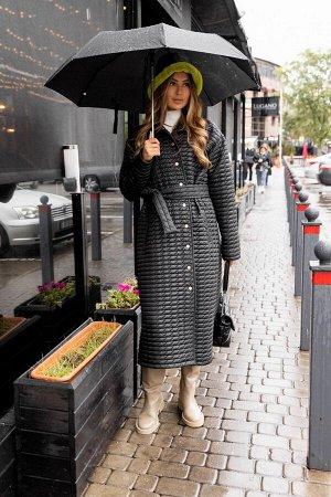 Пальто Пальто Vesnaletto 2875  Состав: ПЭ-100%; Сезон: Осень-Зима Рост: 164  Утеплённое пальто из плащевой ткани с синтепоном, стёганное, на подкладке. Демисезонное. Свободное, прямого силуэта со спу