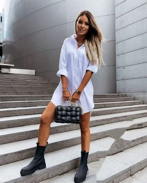 Рубашка длинная женская