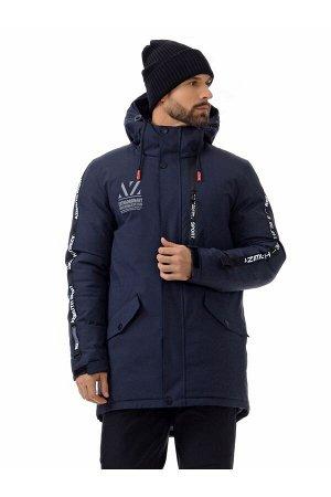 Мужскaя зимняя куртка-парка Azimuth A 8522 Темно-синий