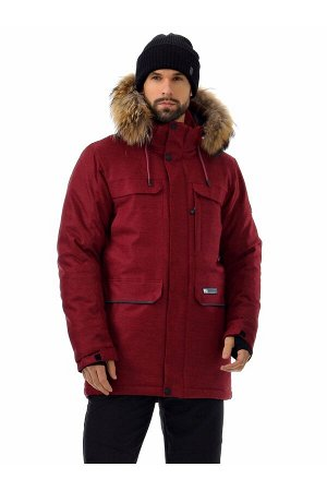 Мужская куртка-парка Azimuth A 21804_107 Бордовый