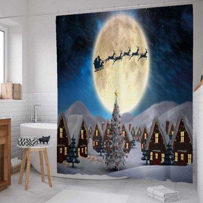 Тюль, шторы, скатерти, панно на стену, корзины для белья — Новогоднее настроение. Шторки, скатерти, салфетки, подушки