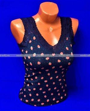 Майки женские Турция Кружево Клубнички темно-синие