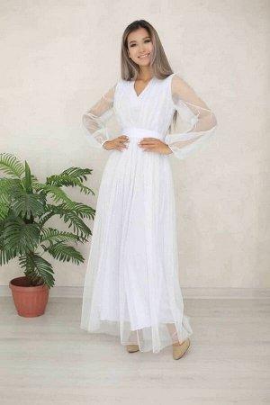 Платье Платье фатиновое Изысканный фасон, V - образный вырез в зоне декольте. Длина подклада 141 см Фатин 151 см