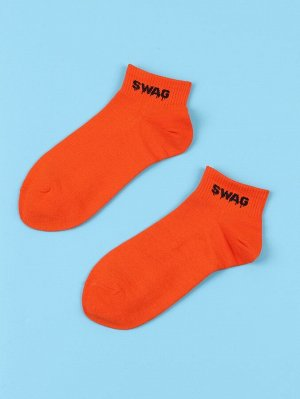 Мужские носки до середины голени с текстовым принтом