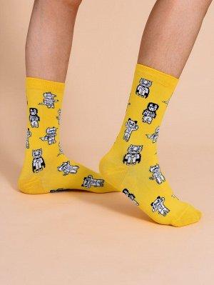 Мужские носки с мультипликационным принтом