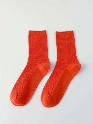 Мужские однотонные носки до середины голени