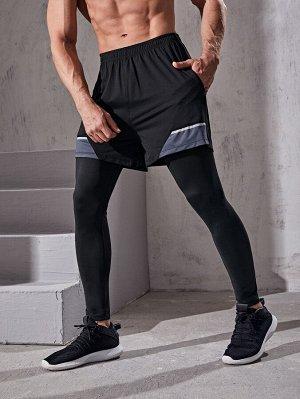 2 в 1 мужские спортивные брюки