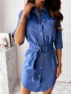 Джиновое платье-рубашка 46-48-50 размер