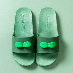 """Тапочки EVA мужские """"Листочки"""", цвет зеленый"""