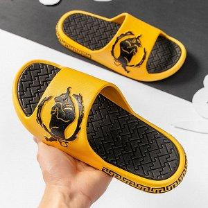 """Тапочки EVA мужские """"Бык"""", цвет желтый"""