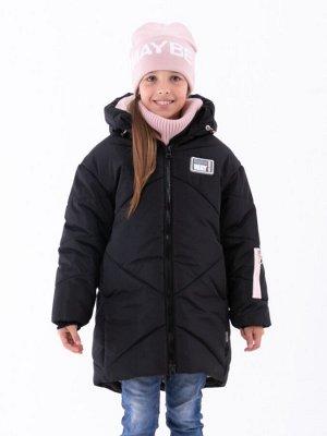 101433/1 (черный) Пальто для девочки