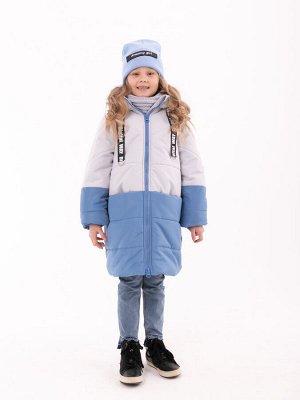 101435/1 (голубой) Пальто для девочки