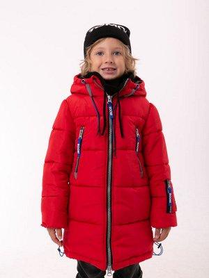 101440/2 (красный) Пальто для мальчика