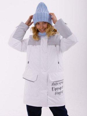 101553/1 (белый) Пальто для девочки