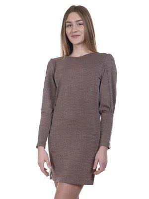 Платье Эффектное платье приталенногокроя выполнено в однотонной цветовой гамме. Модель оформлена округлым вырезом горловины и длинными рукавами. Прекрасный выбор для встречи Нового Года и