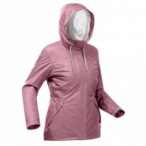 Куртка теплая водонепроницаемая походная женская SH100 Х-WARM QUECHUA