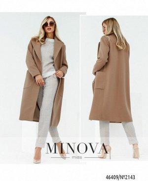 Пальто №2143-бежевый