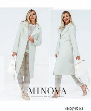 Пальто №2143-молочный