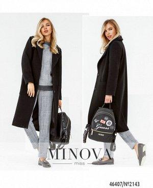 Пальто №2143-черный