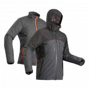 Куртка три в одной непромокаем. для многодневного треккинга муж.TRAVEL 500 -10°C FORCLAZ