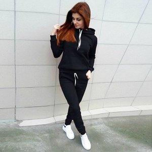 Утеплённый костюм чёрный цвет 40-42-44р