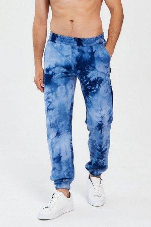 Брюки Comfort мужские синий тай-дай
