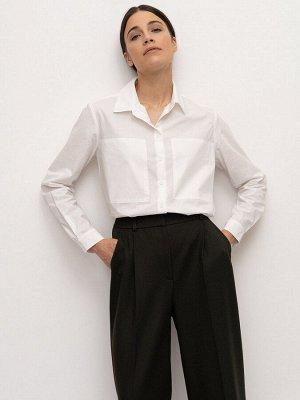 Рубашка прямого кроя B2260/after