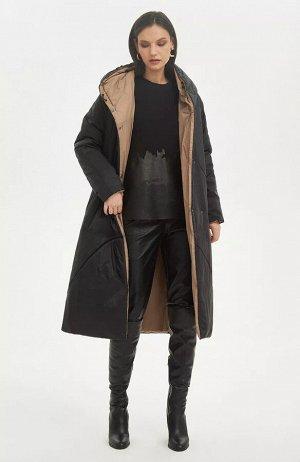 Пальто  (В наличии у поставщика размеры44,46 Черный бежевый;)