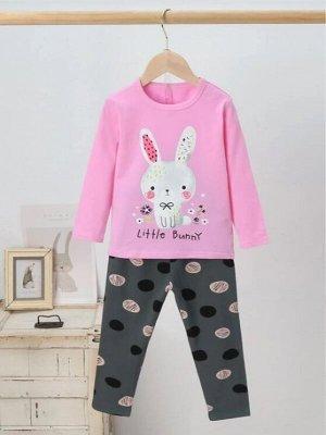 Пижама с принтом кролика