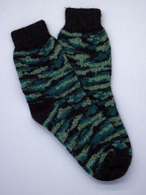 Носки мужские шерстяные, комуфляж, зеленый мужской универсальный (разм: 41-45)