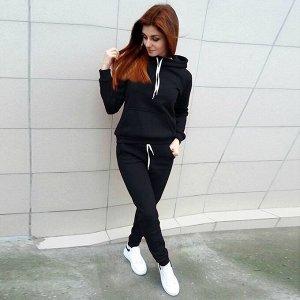 Утеплённый костюм чёрного цвета 40-42-44р