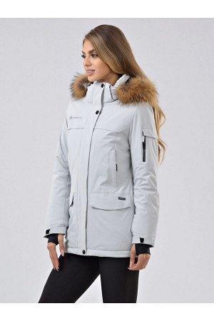Женская куртка-парка Azimuth В 20697_76 Серый