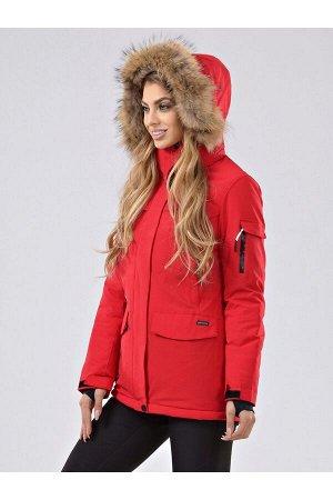 Женская куртка-парка Azimuth В 20697_77 Красный