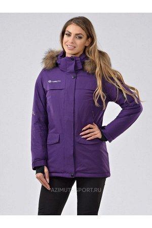Женская куртка-парка Azimuth В 20697_78 Баклажановый