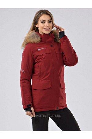Женская куртка-парка Azimuth В 20697_79 Бордовый