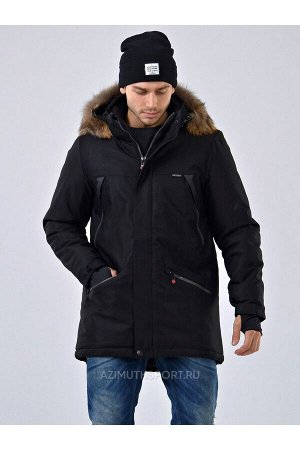 Мужскaя куртка-парка Azimuth A 8278_88 Черный