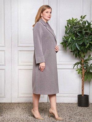 Пальто Ткань верха: Велюр (шерсть 60%, полиэстер 30%, акрил 10%)  Роскошное женское пальто прямого силуэта. Классическая универсальная модель с английским воротником и трендовой длиной. Прорезные карм