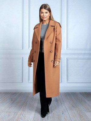 Пальто Ткань верха: Джерси (вискоза 45%, шерсть 40%, полиэстер 15%)  Молодежное длинное пальто-тренч- самое желанное пальто сезона! Прямой силуэт и внимание к каждой детали сделали эту модель невероят