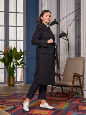 Пальто Ткань верха: Велюр (шерсть 60%, полиэстер 30%, акрил 10%)  Молодежное пальто тренч. Базовая вещь, которая будет востребована и актуальна еще многие десятилетия. Модель этого пальто с неизменн