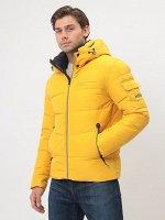 Мужская зимняя спортивная куртка Kings Wind на контрастном подкладе, с капюшоном