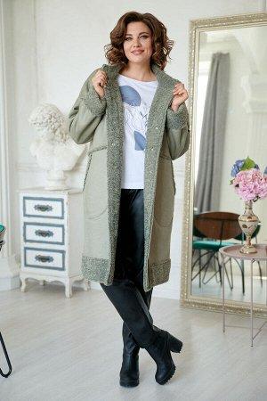 Пальто Пальто Rumoda 2045 хаки  Состав: ПЭ-97%; Спандекс-3%; Сезон: Осень-Зима Рост: 164  Пальто женское двухбортное без подкладки из двухсторонней ткани. Силуэт прямой, слегка заужено к низу. По пер