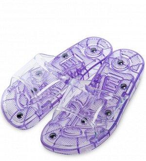 Массажные тапочки фиолетовые, длина 26,5см