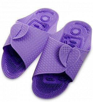 Массажные тапочки фиолетовые, длина 27см