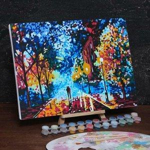 Картина по номерам на холсте с подрамником «Осенний парк» 30х40 см