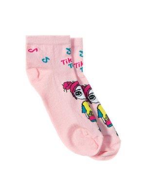 """Носки для девочек """"Girl tik"""", цвет Светло-розовый"""