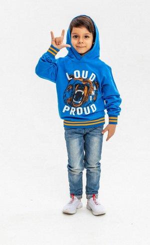 """Толстовка с капюшоном для мальчиков """"Loud blue"""", цвет Синий"""