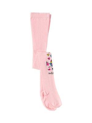 """Колготки для девочек """"Rose unicorn"""", цвет Светло-розовый"""