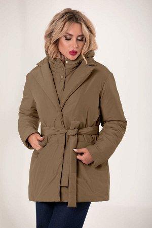 Куртка Куртка Golden Valley 7127 коричневый  Состав: ПЭ-100%; Сезон: Осень-Зима Рост: 170  Куртка утепленная, с центральной застежкой на пришивные кнопки, отложным воротником и лацканами. Перед отрез