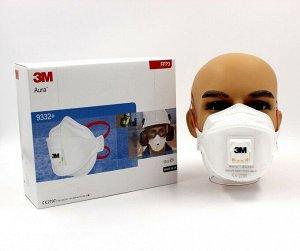 Респиратор для защиты от твердых частиц 3M Aura, FFP3, с клапаном, 9332+