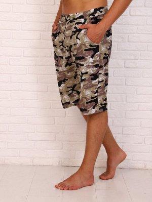 Шорты мужские, модель 217, трикотаж (46 размер, Камуфляж )